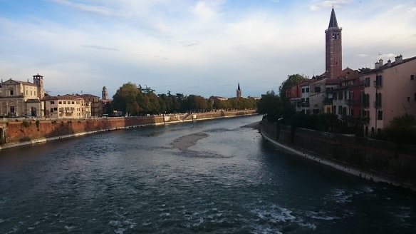Vérone, bord de l'Adige