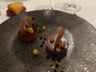 Foie gras en gelée fruitée