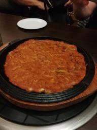 Galette de kimchi